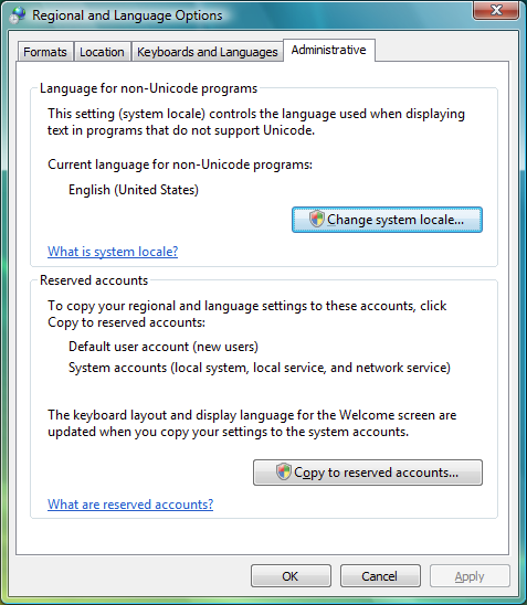 regional and language options windows 7