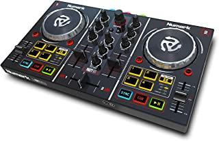 Numark Party Mix | Beginners DJ Controller Set for Serato DJ with 2 Decks, Party Lights, Headphone Output, Performance Pad...
