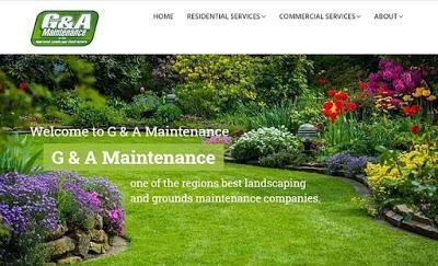 G & A maintenance website's homepage