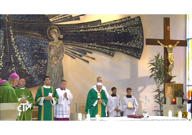 Pope Francis celebrates Holy Mass at the Salesian centre in Baku, Azerbaijan, 2 Oct 2016.  - RV