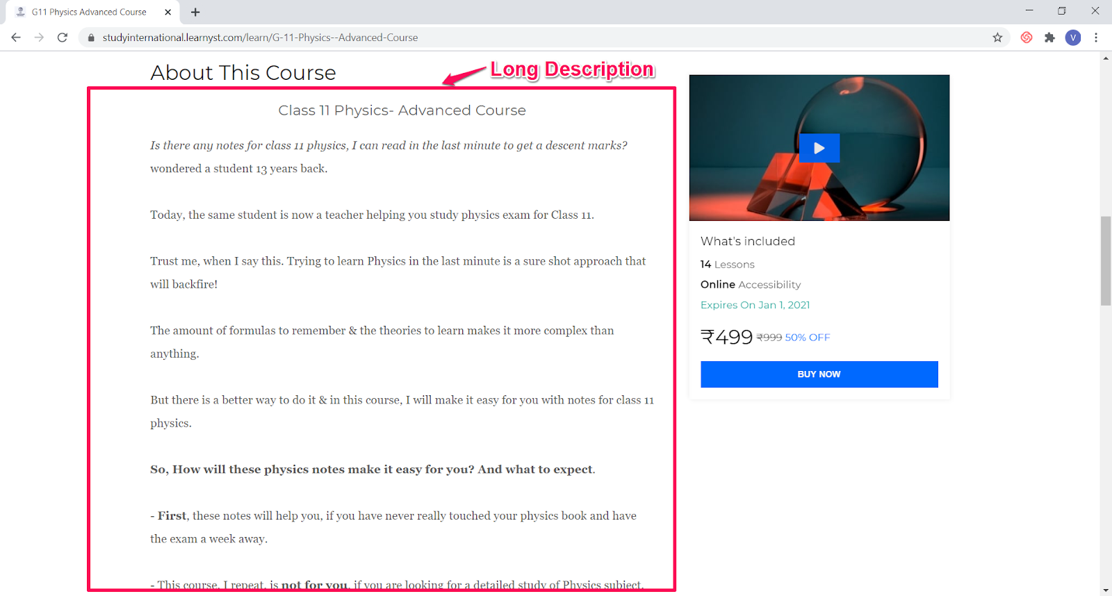Get Your Online Course Found