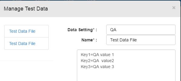 keys for QA test data