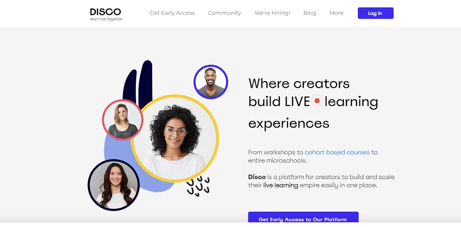 Screenshot of Disco - Cohort Based Course Platform