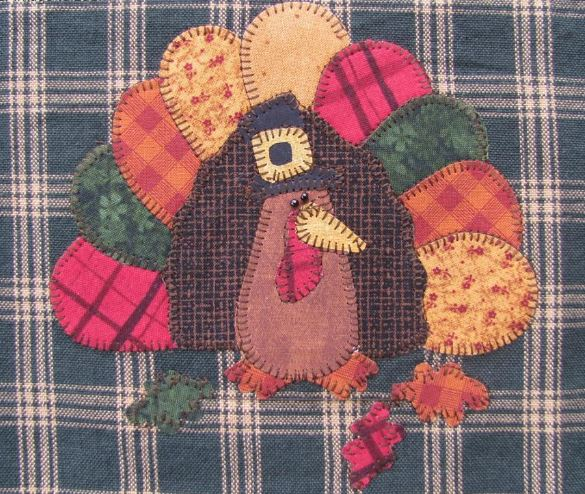 Quilted Turkey on Dish Towel