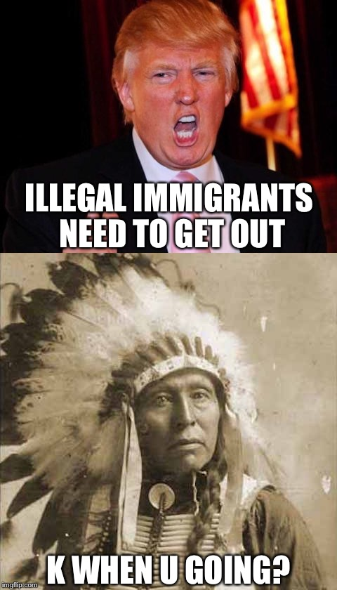 Image result for trump vs. immigrant memes