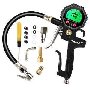 TiGaAT Digital Tire Inflator Pressure Gauge