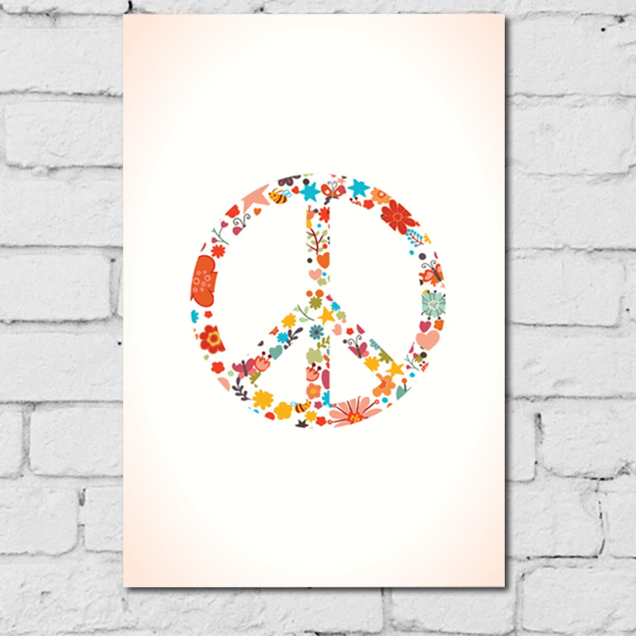 Placa MDF Peace and Love Floral.jpg