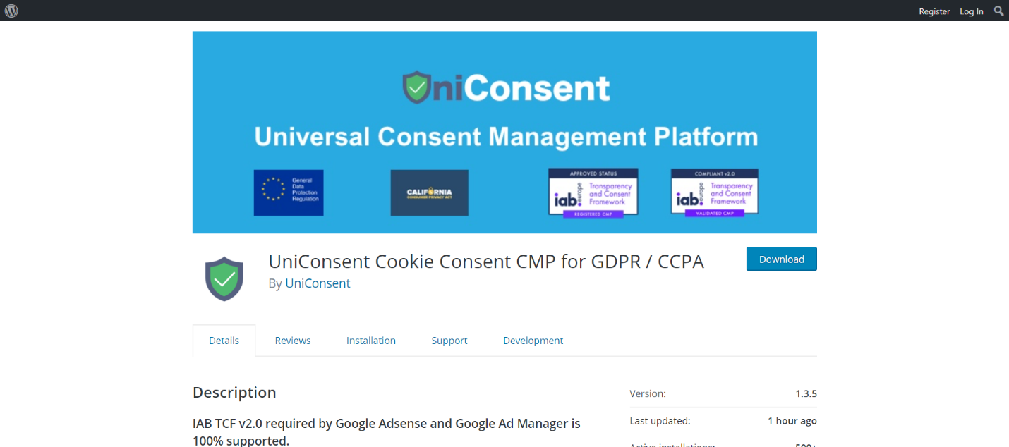 UniConsent CMP for GDPR and CCPA (Cookie Consent)