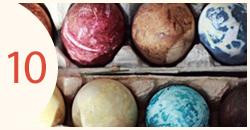 Margučiai dažyti natūraliais dažais išgautais iš maisto produktų