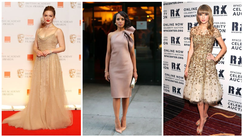 Celeb Elegant Dress Collage