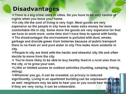 Essay Advantages And Disadvantages Living In A Big City