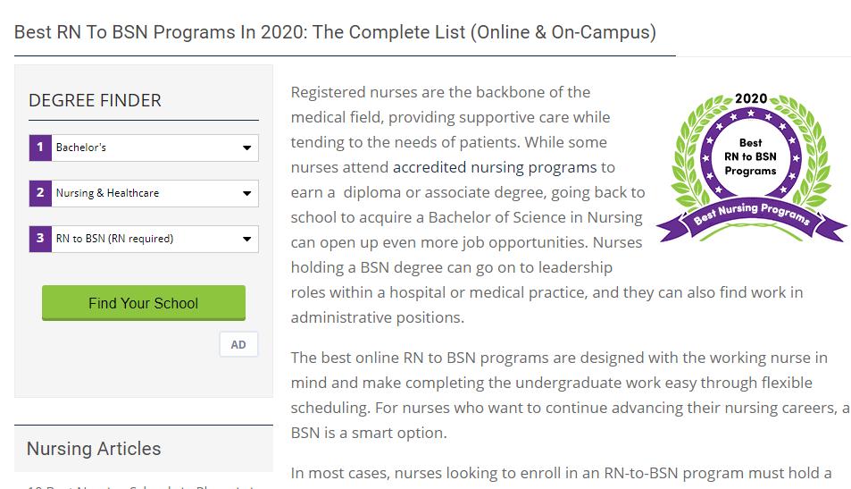 nursing school comparison guide