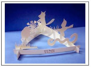 three dimensional white paper sculture