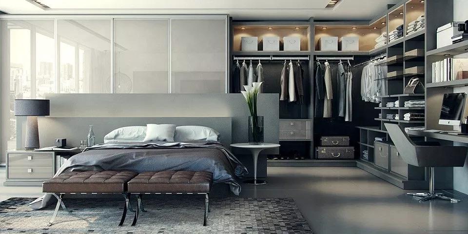 Thiết kế phòng thay đồ với phong cách sang trọng