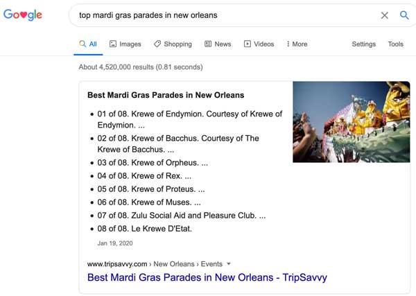 new orleans mardi gras parades seo example
