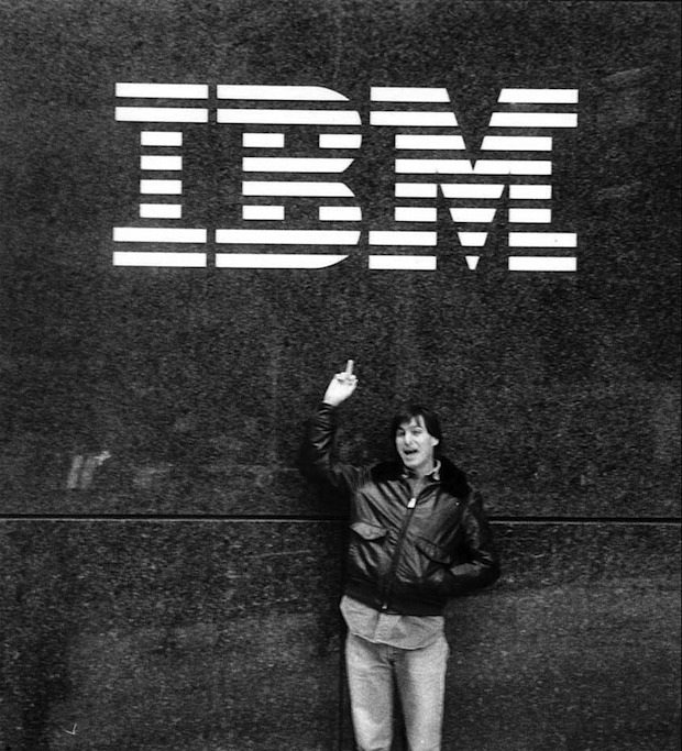 Steve gives IBM the bird