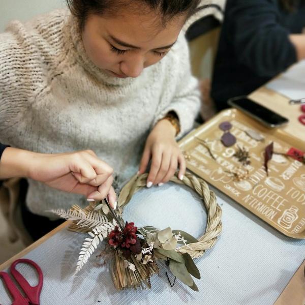 台北-乾燥花diy-花曜日-乾燥花祝連繩手作體驗