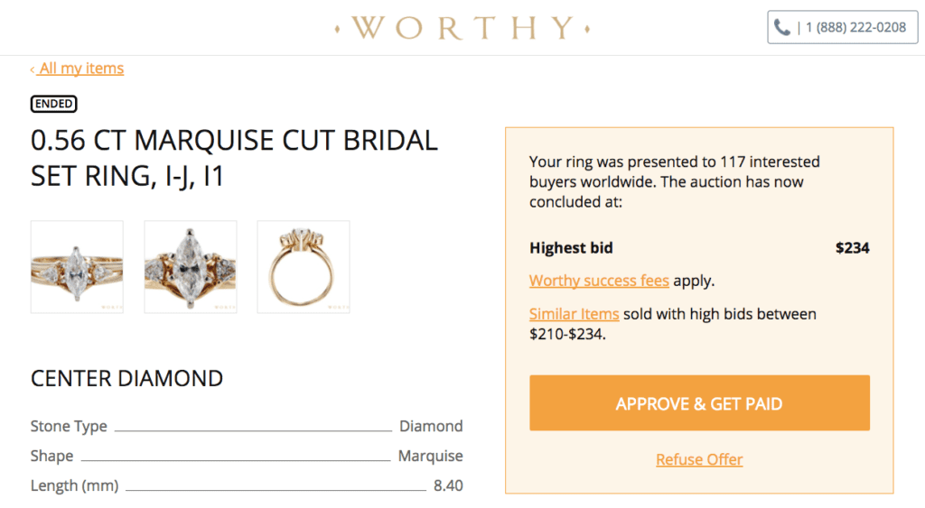 worthy review jewelry auction