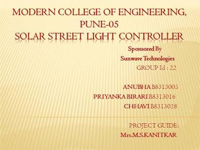 Solar street light pdf