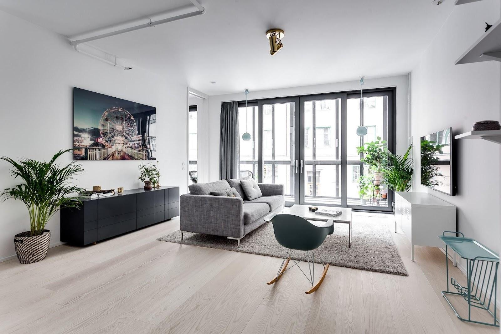 Kết quả hình ảnh cho Mẫu thiết kế nội thất chung cư theo kiểu Bắc Âu