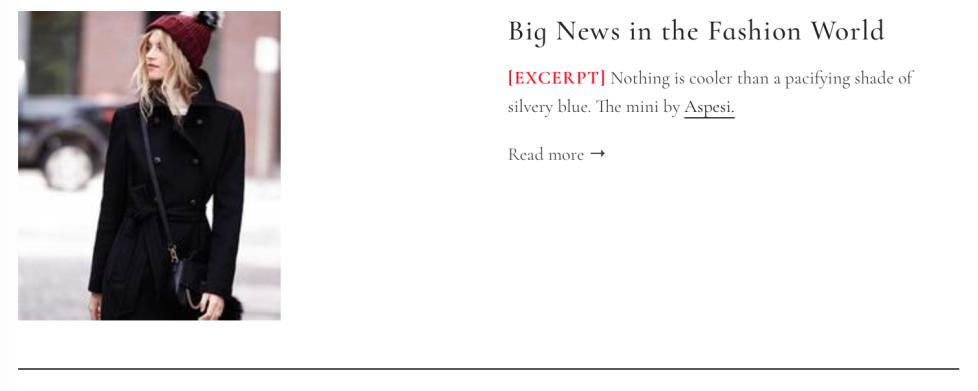 Aggiungere excerpt nel blog di Shopify