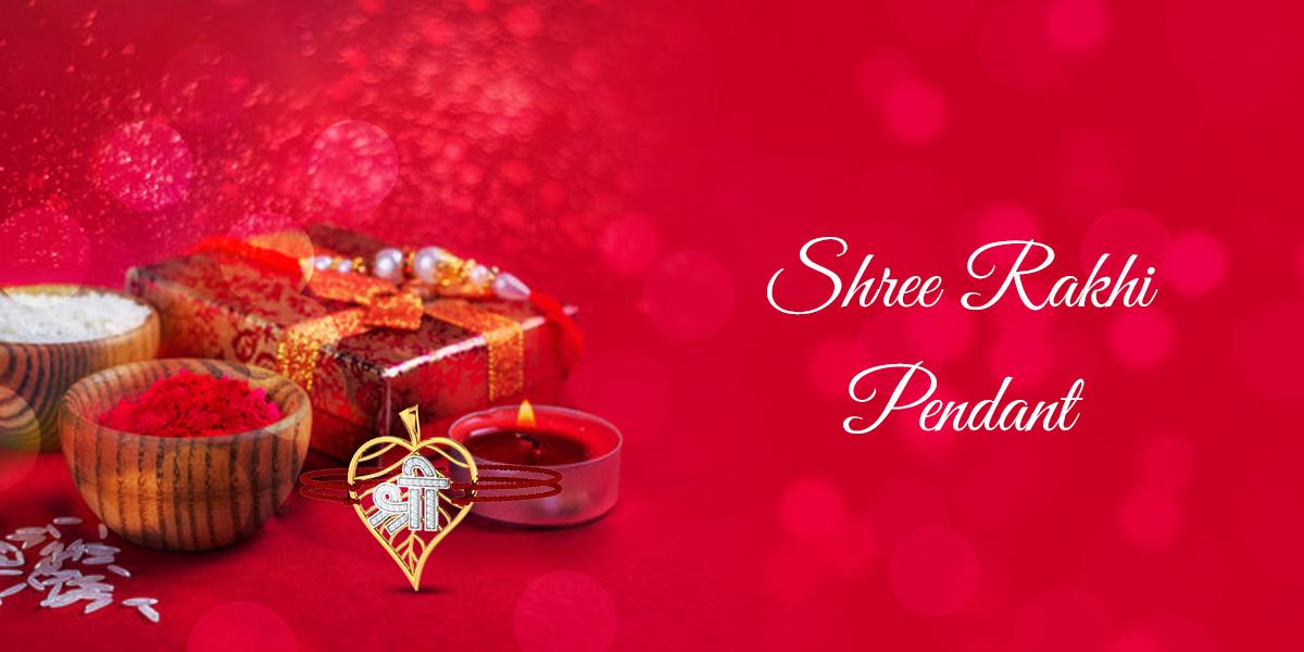 shree rakhi gold pendant