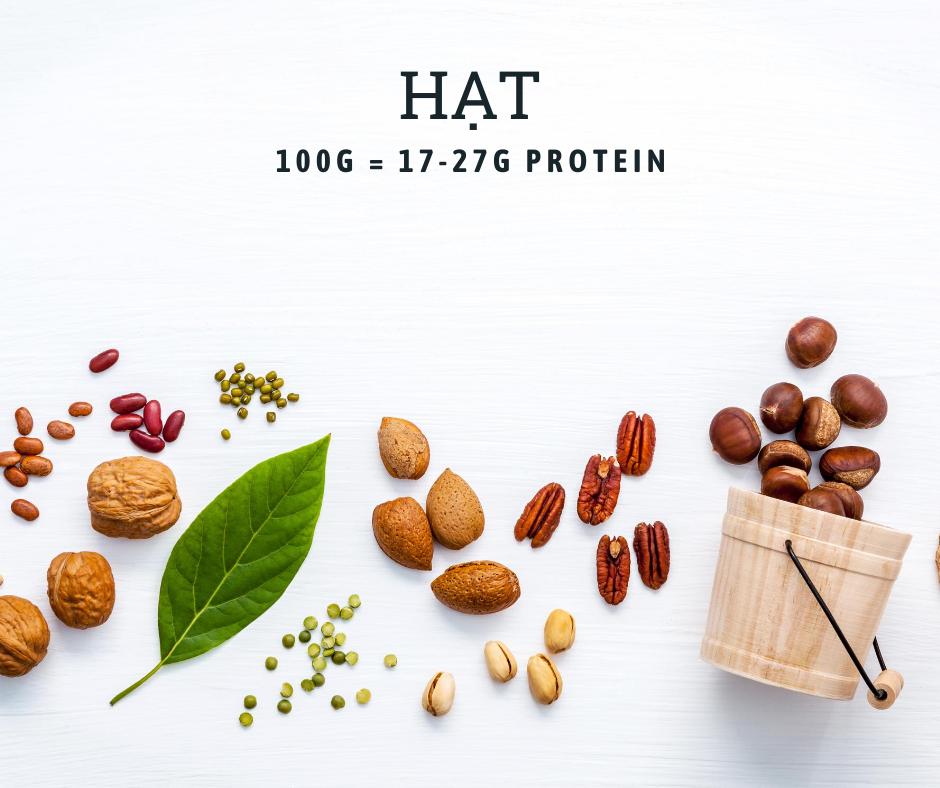 Các loại hạt chứa nhiều protein hoặc vitamin