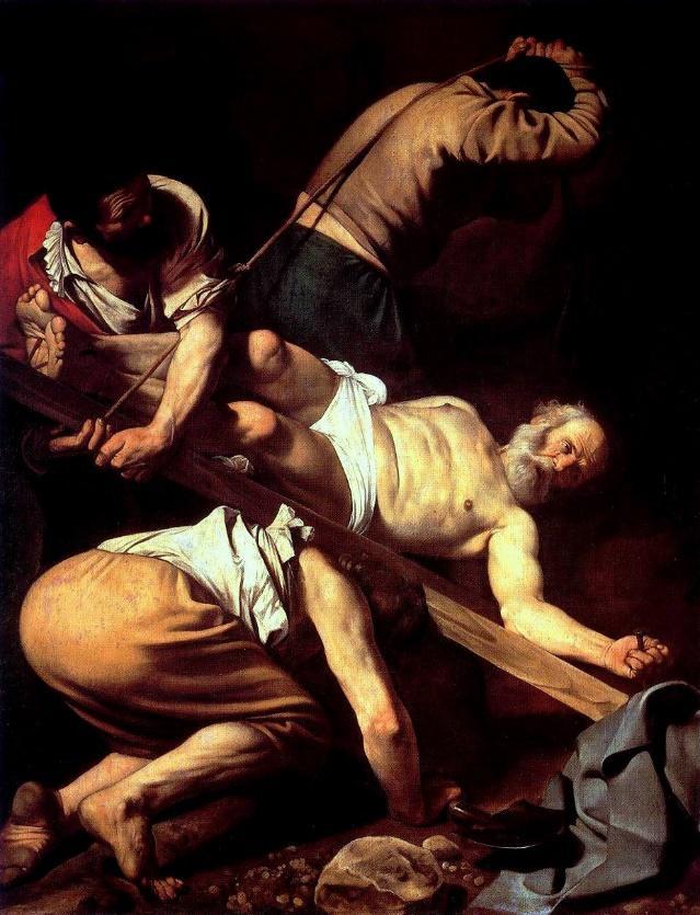 Risultati immagini per crocifissione di san pietro