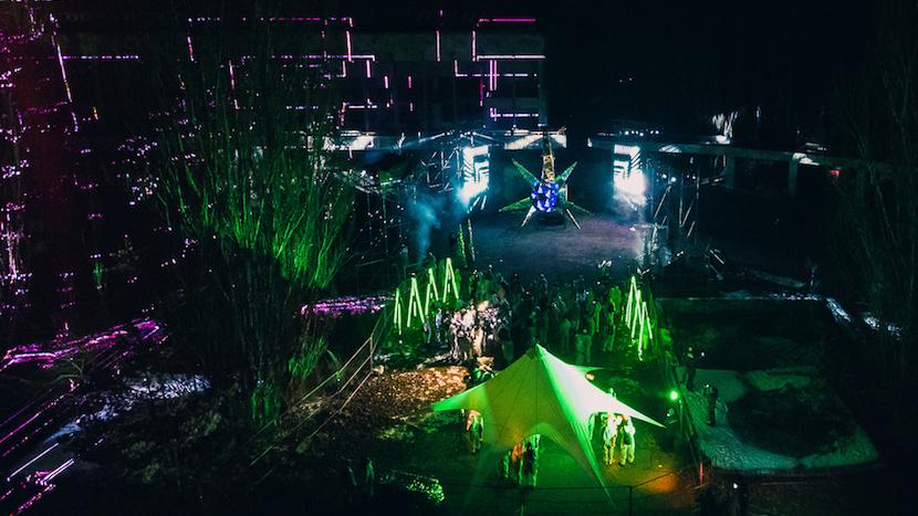 Лазерное шоу в Припяти в октябре 2019 года. Источник: https://rubryka.com
