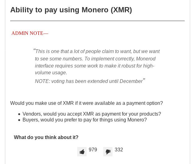 Darknet Markets Ability to pay using Monero