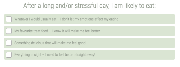 stress eating question