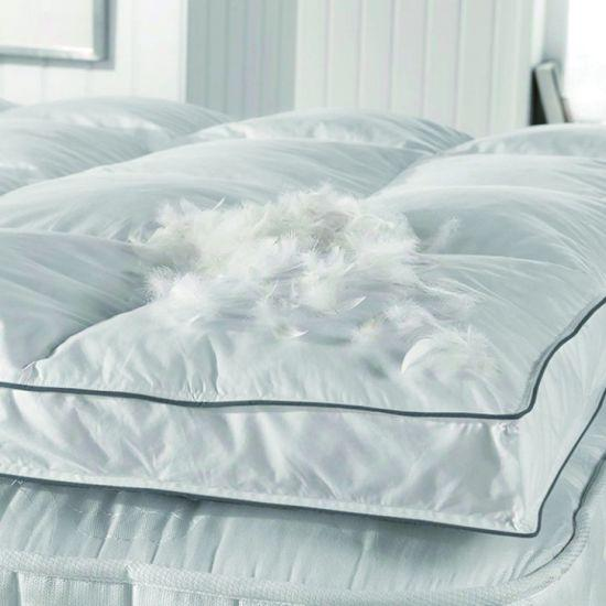 Duck feather and down mattress toppers