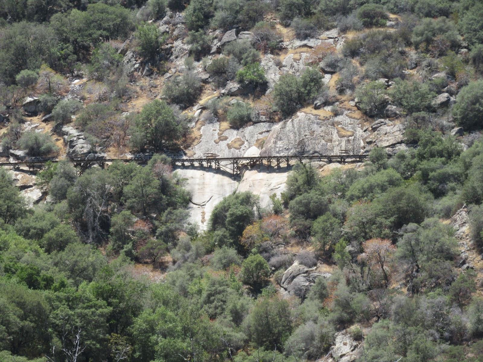 Mining Tracks on Mineral King Road bike climb.