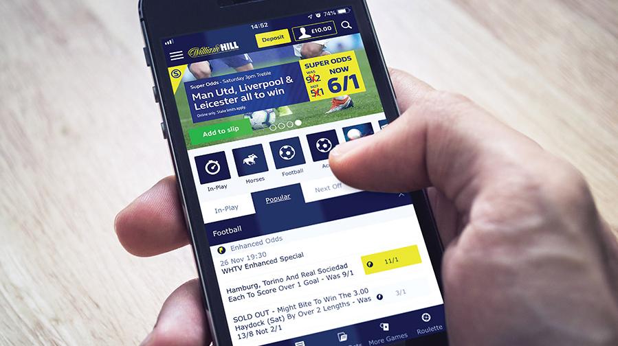 William Hill мобильное приложения для Андроид