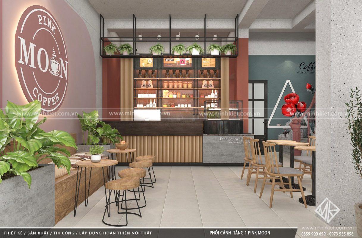 Thiết kế quán cafe đẹp độc đáo 300-500 triệu