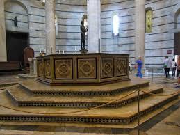 Resultado de imagen de fotos del baptisterio de pisa