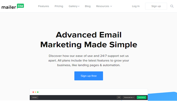 best email list providers/mailerlite