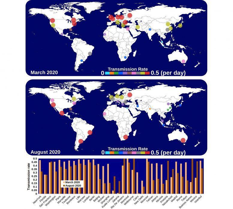 Transmission Rates of the Coronavirus