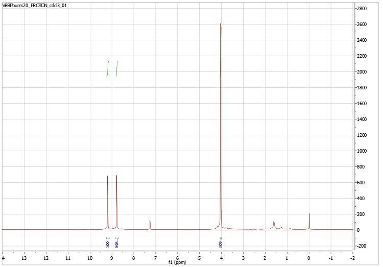 VRBPBurns20ProtonNMRchloroform.JPG