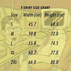 Dicetak di New States Apparel, mohon simak size chart sebelum memilih ukuran (Printed on New States Apparel, please refer to the size chart)
