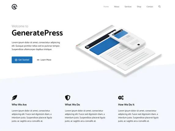 GeneratePress Tema WordPress