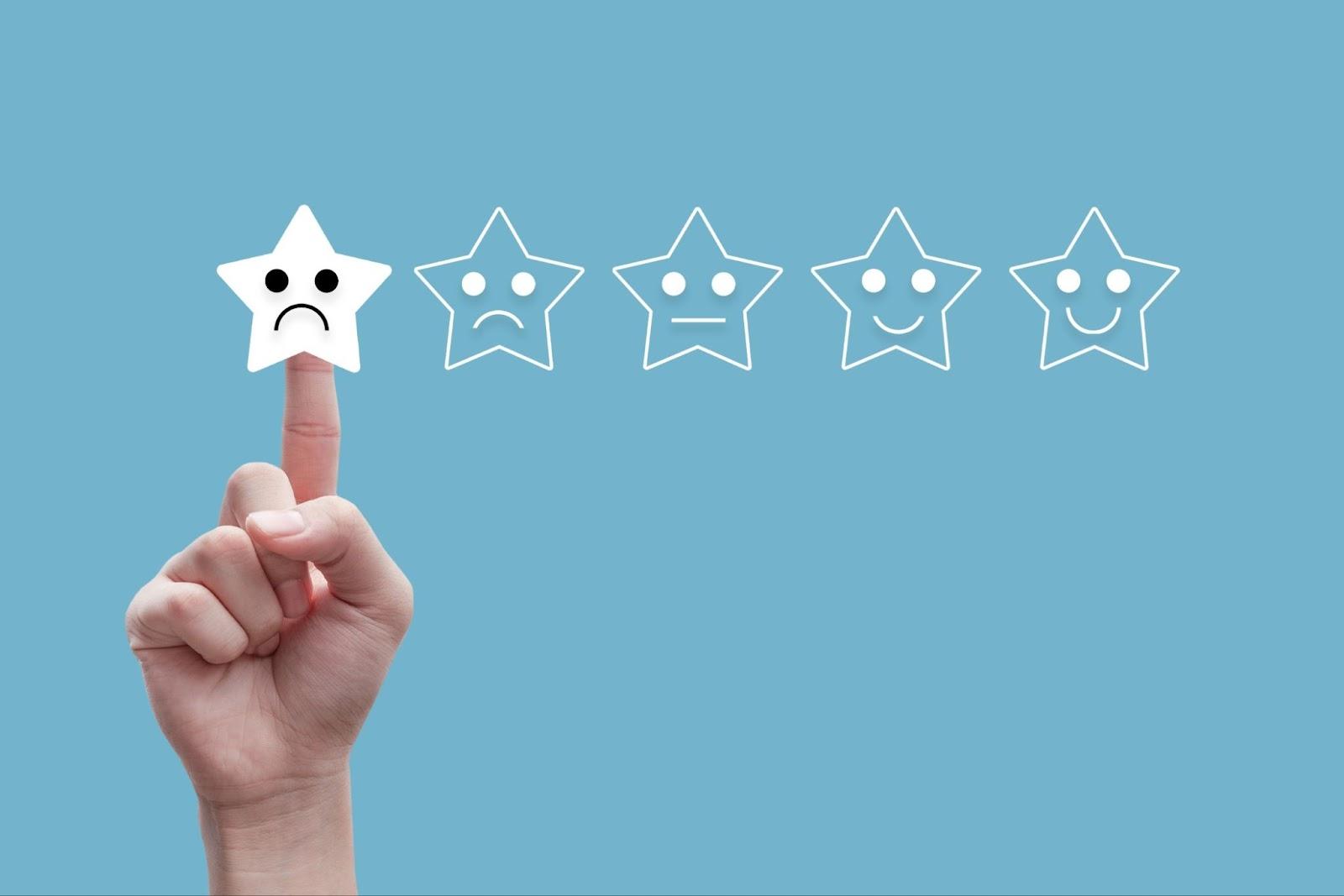 choosing a negative review