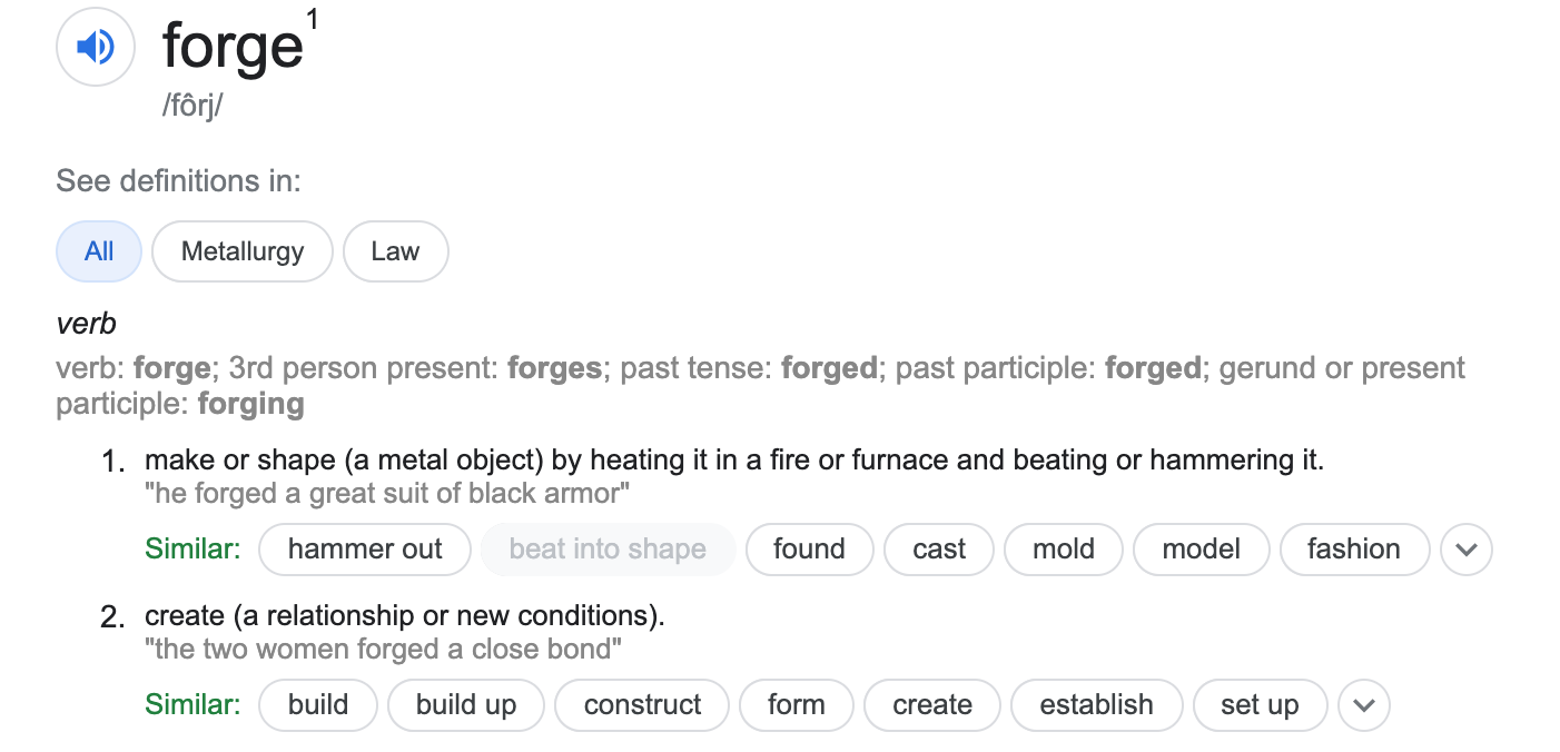 Forge definition as part of yearly goals   strategysarah.com