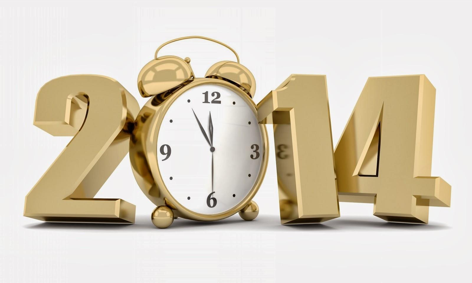 Año Nuevo 2014 muy cercano con reloj