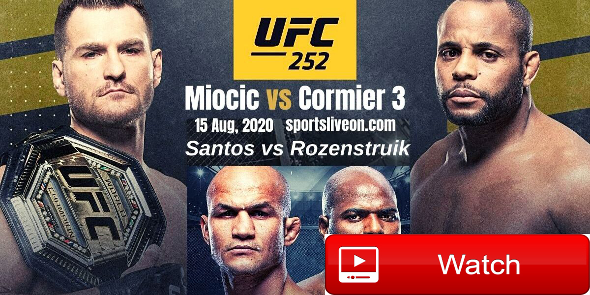 Ufc 252 Live Stream Results Play By Play Updates For Miocic Vs Cormier 3 By Eric Smith Rockland Camden Knox Courier Gazette Camden Herald