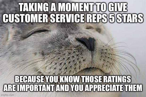 5 star customer service meme