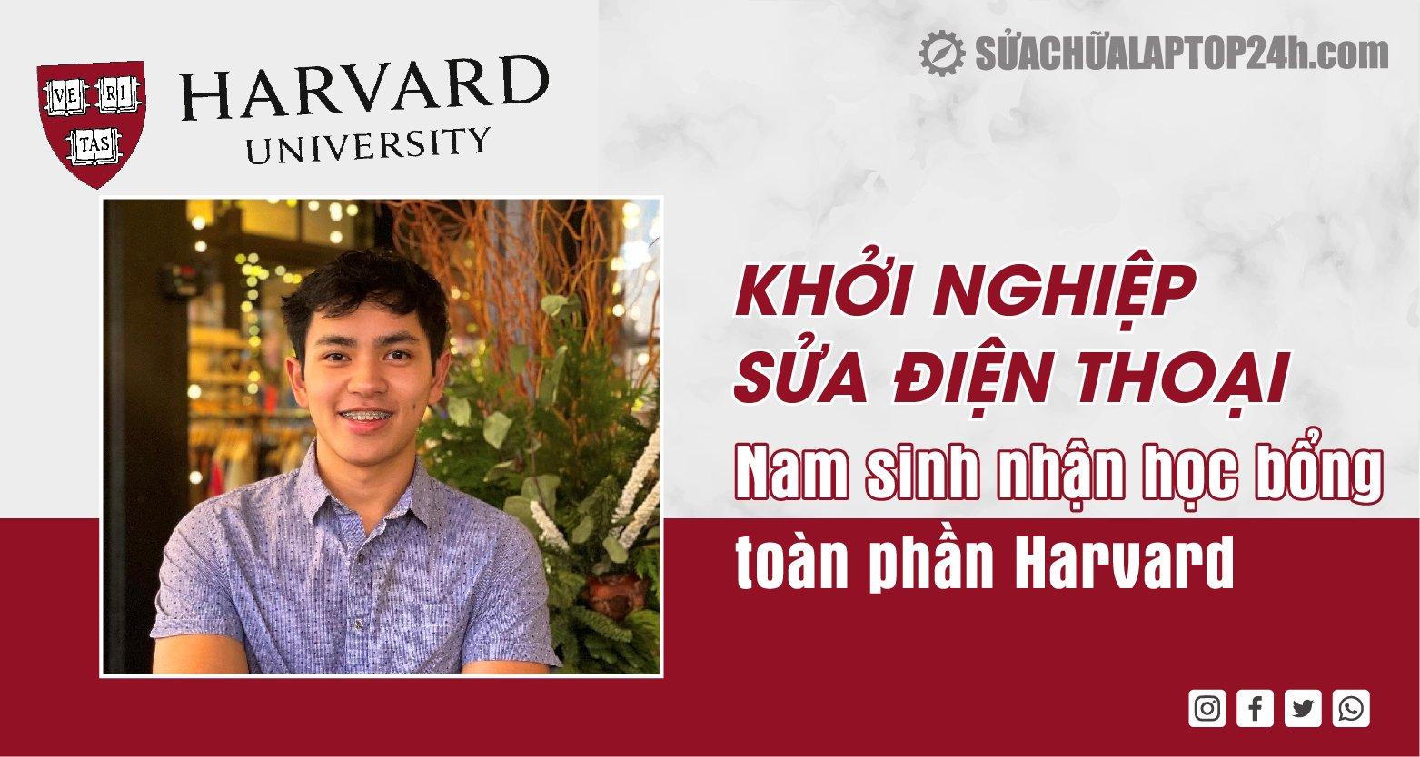 Cậu bé sửa điện thoại nhận học bổng toàn phần Harvard