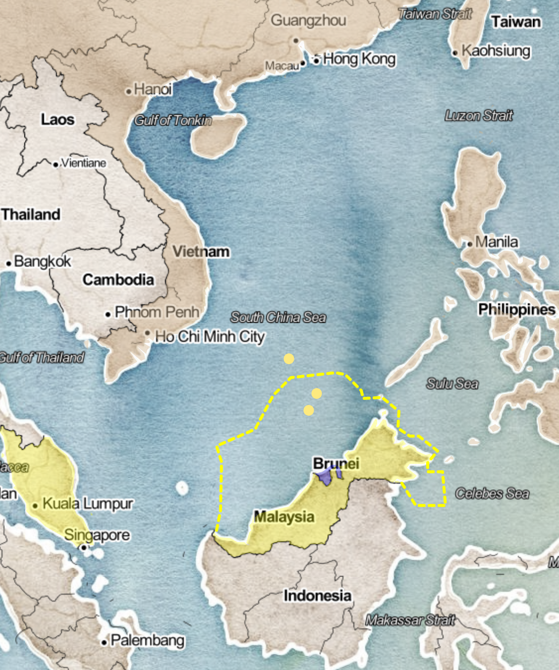 Recent Claimants | South China Sea | Conflict and Diplomacy on the ...