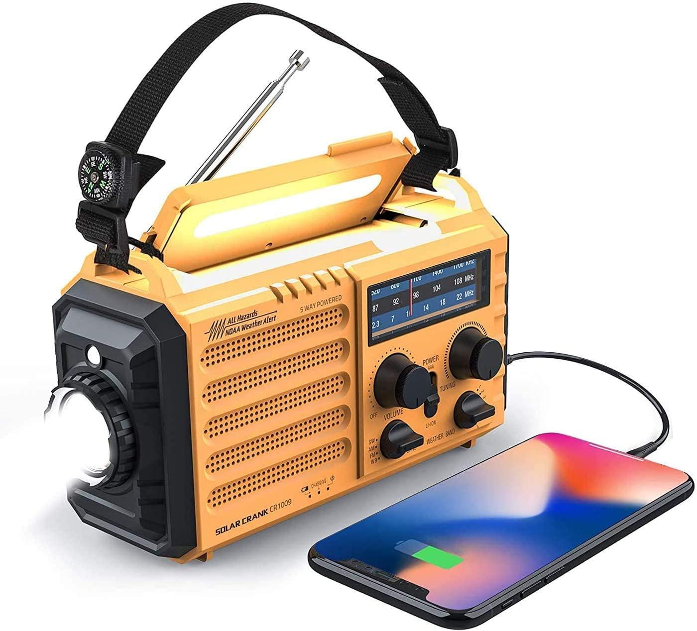 best Weather Radio - Raynic Solar Hand Crank Radio