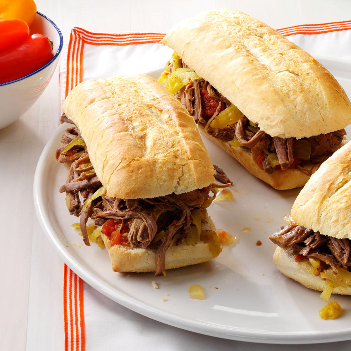sandwich with Pu erh tea